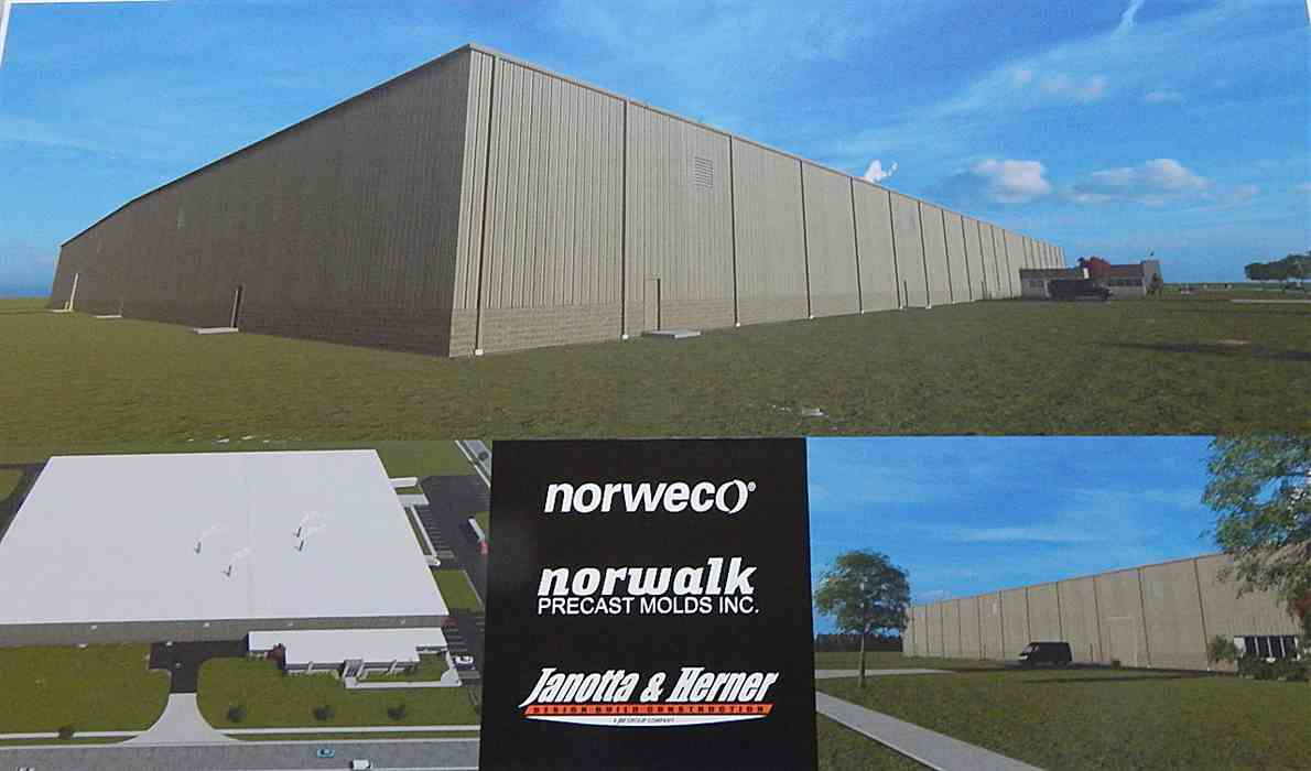 Groundbreaking at Norweco and Norwalk Precast Molds